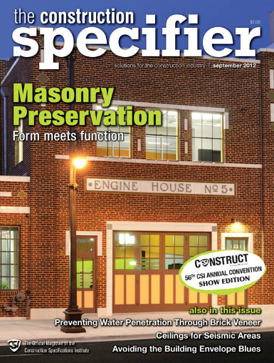 Construction Specifier, September 2012