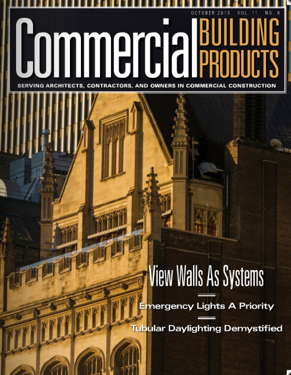 Commercial Building Products Magazine, October issue