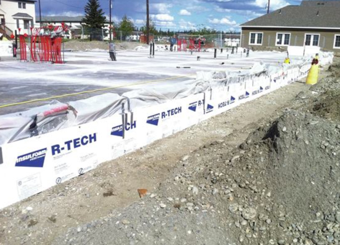 EPS insulation helps reduce heat loss through concrete foundations and floor slabs.