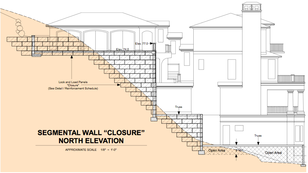 Utilizing geofoam in foundation design for steep sloped for House foundation on slope