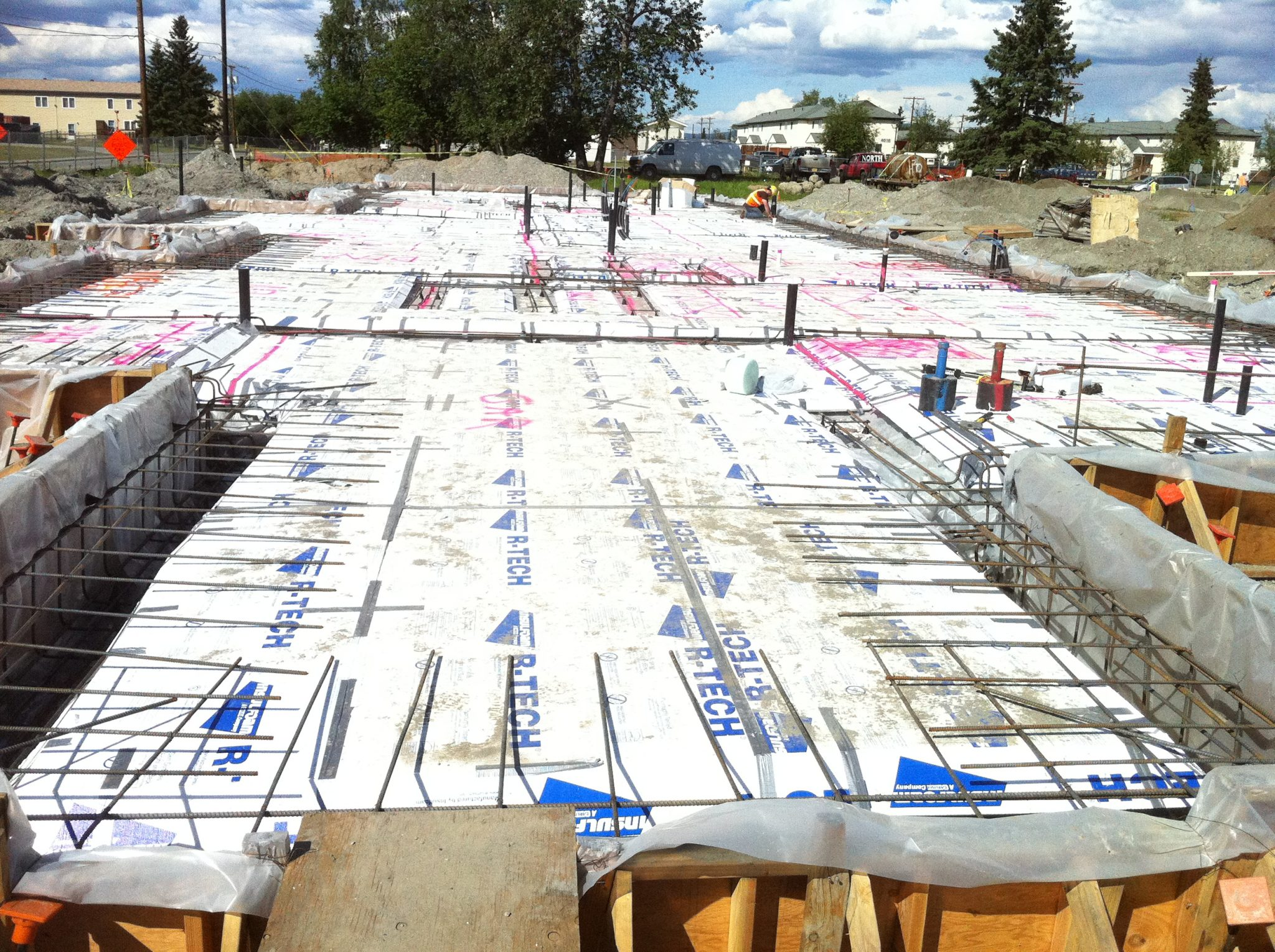 EPS insulation in an under-slab application