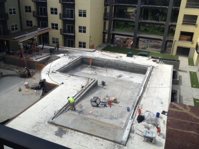 Project profile florida pool deck uses geofoam to reduce for Foam concrete construction