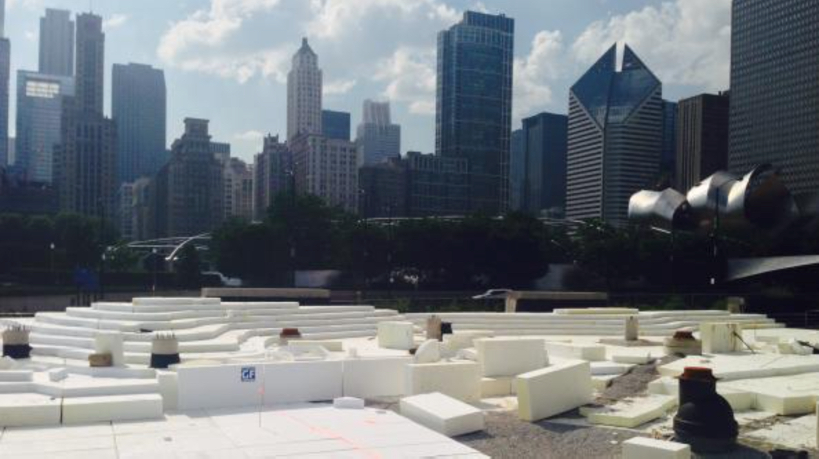 Geofoam serves as soil substitute in Windy City park project