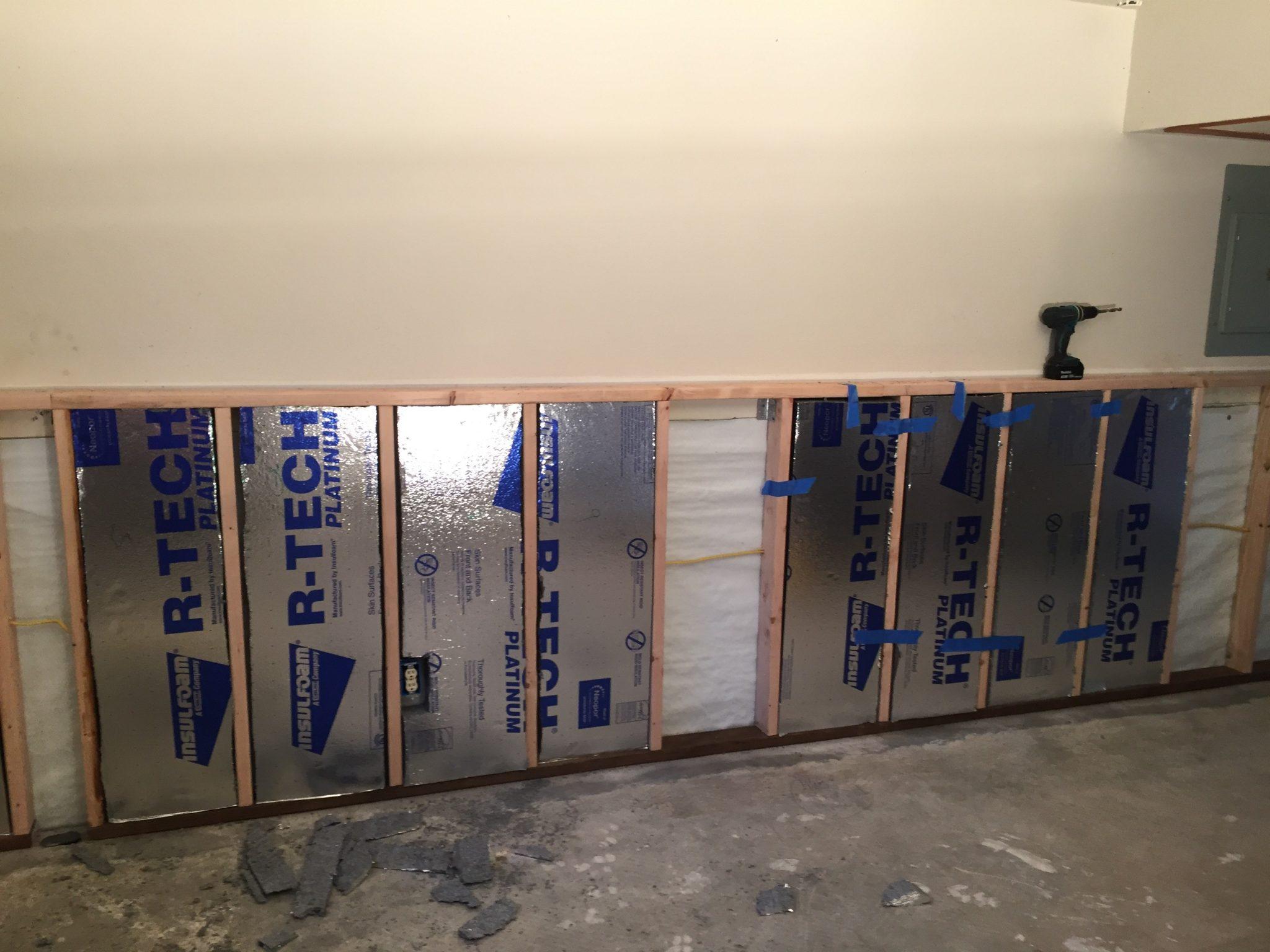 DIY Project Basement insulation upgrade after flood