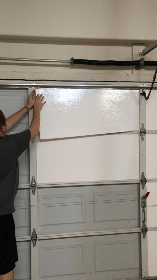 DIY Garage Door Insulation Installation in Steamy Arizona ...