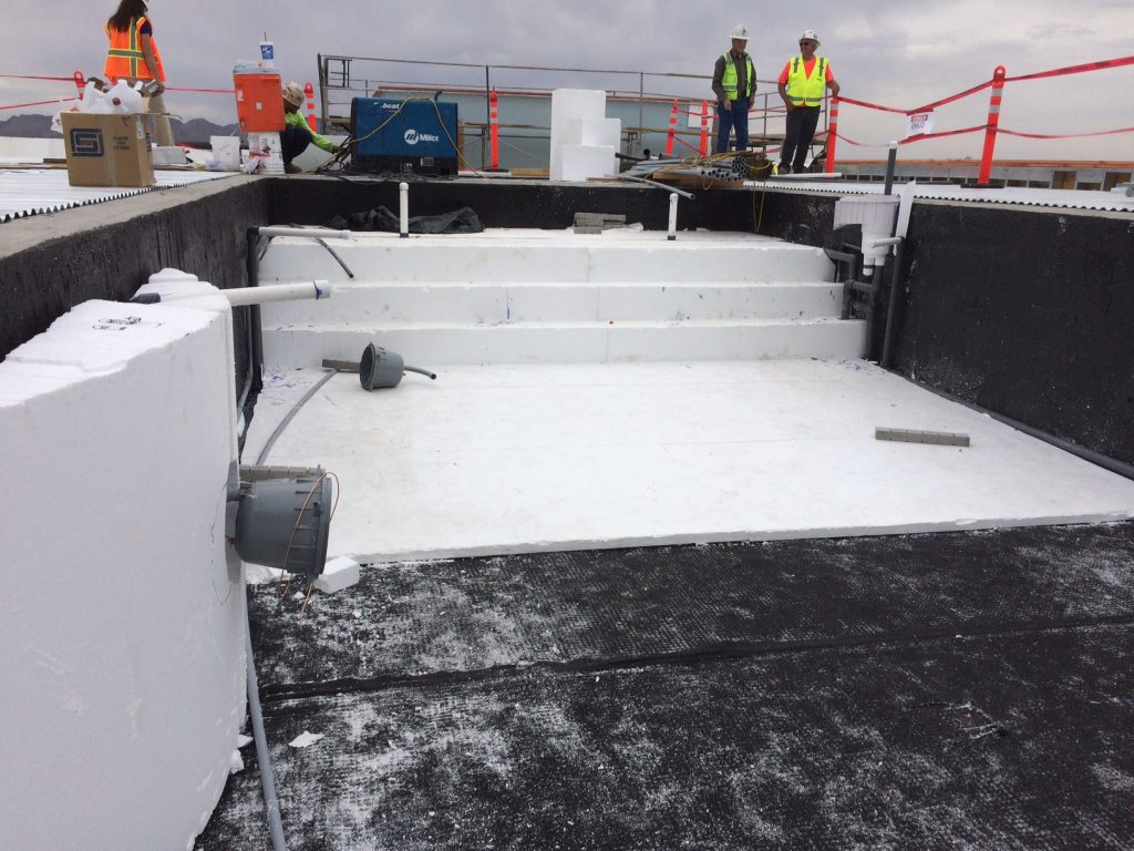 Geofam simplifies pool building insulfoam for Foam concrete forms for pools