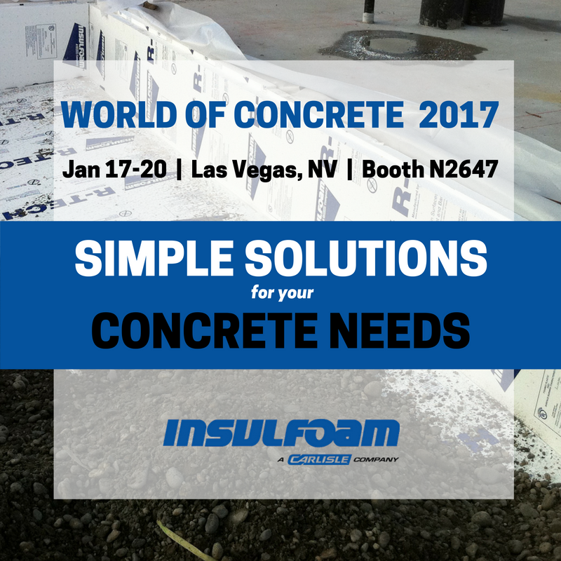 WORLD OF CONCRETE 2017: Insulfoam in Booth N2647