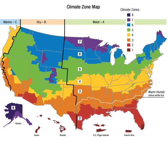 Insulation Climate Zone Map | Insulfoam on